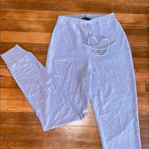 Pretty little things silver sparkly joggers